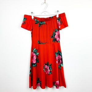 Beautiful Bright Floral Patterned Dress